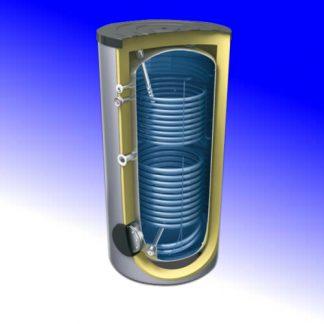 Termo interacumulador  200 litros, 2 serpentines, Lemet